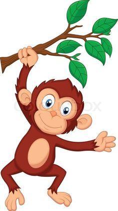 236x420 Cute Cartoon Monkeys Monkeys Cartoon Clip Art Cartoon Images