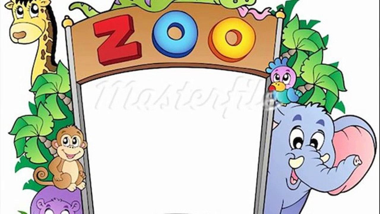 1280x720 Cartoon Drawing Zoo