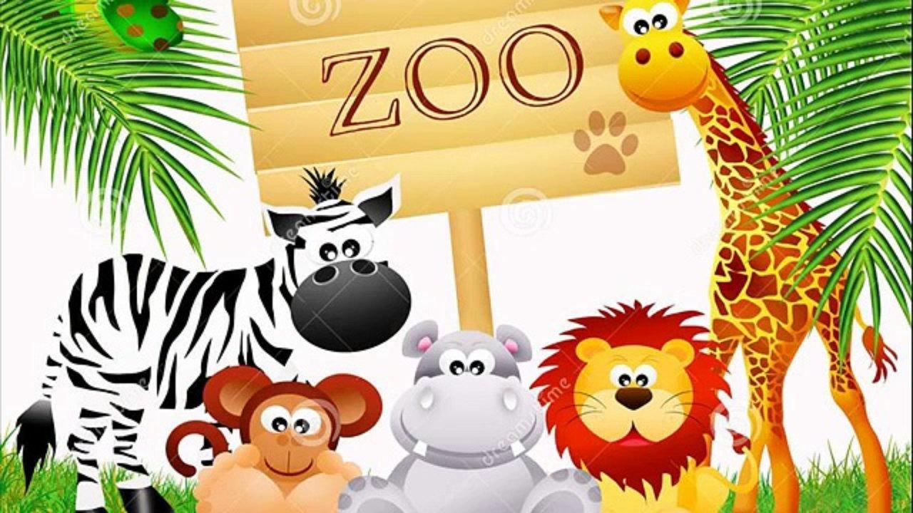 1280x720 Cartoon Zoo Animals