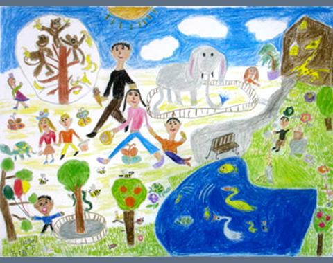 480x380 Bo Fang Young Artist, Kids Art, Children's Painting, Children'S