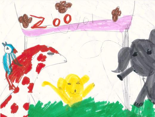 520x394 Zoo Drawing Animal Identification, Please