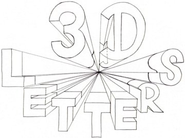 360x270 How To Draw 3d Letters One Point Perspective Lettering
