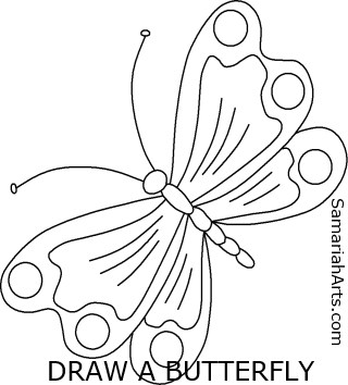 320x354 How To Draw A Butterfly That Is One Dimensional, But Playful!