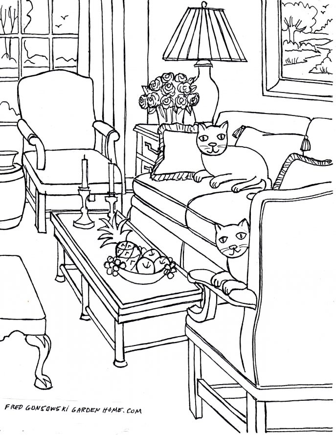 687x889 Drawings Of Living Rooms