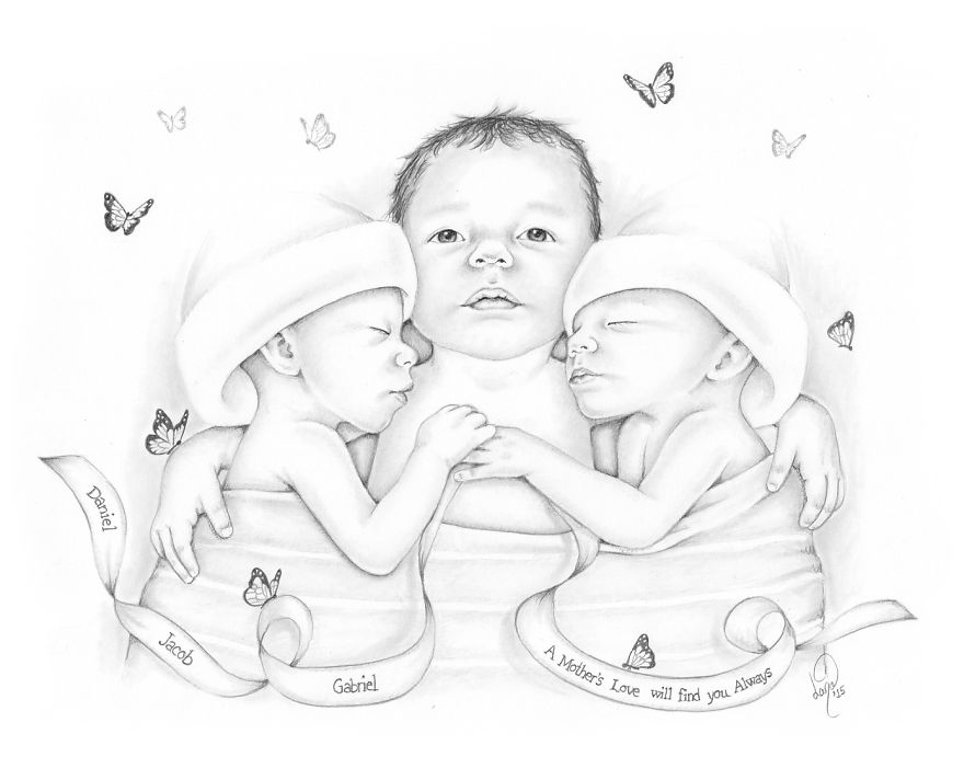 880x691 I Draw Baby Portraits For Families Who Suffered Early Losses