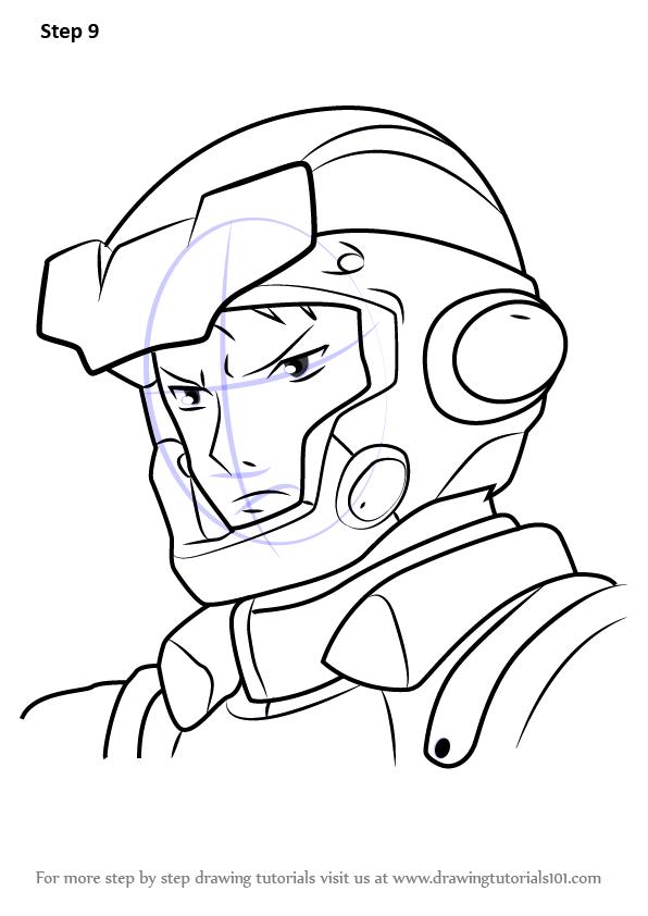 596x842 Learn How To Draw Akira Takei From Gundam (Gundam) Step By Step