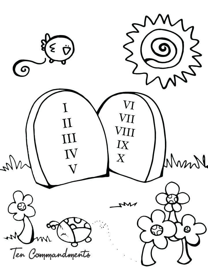 10 Commandments Drawing