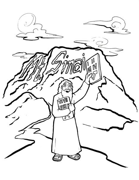 466x600 10 Commandments Coloring Page Children's Ministry Deals