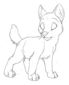 236x289 Easy To Draw Anime Wolf