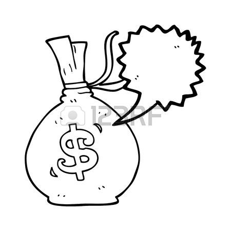 450x450 Freehand Drawn Speech Bubble Cartoon 100 Dollar Bill Royalty Free