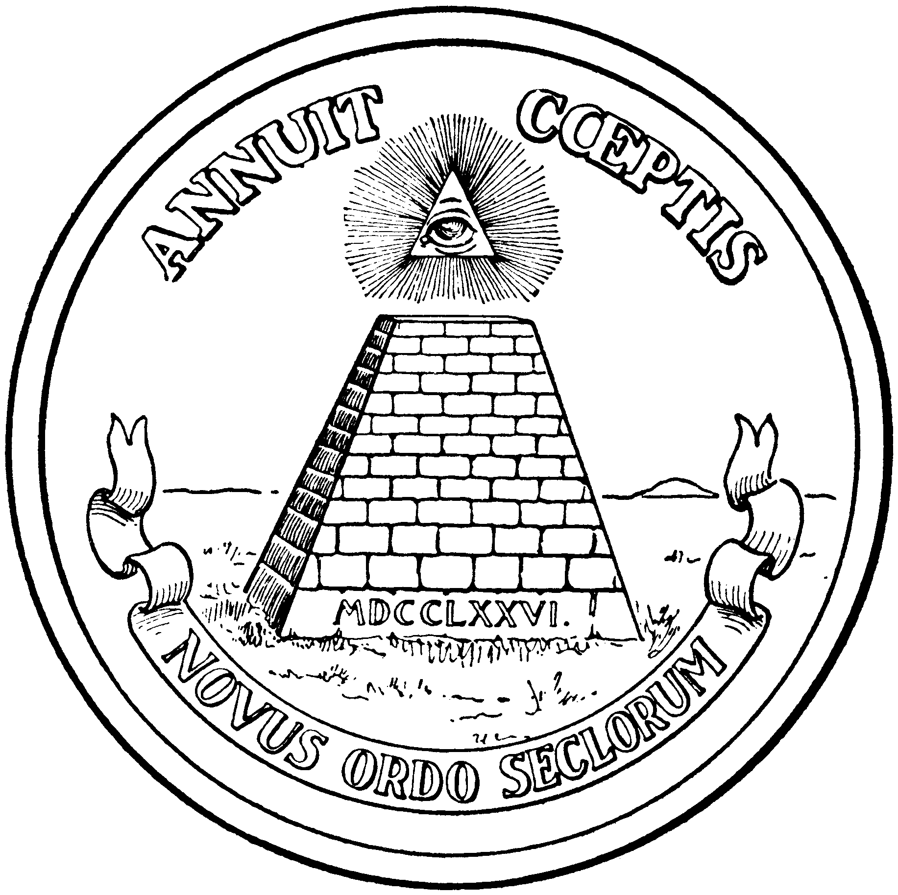1833x1828 Secret Illuminati Symbols Hidden Intelligently On The Dollar Bills