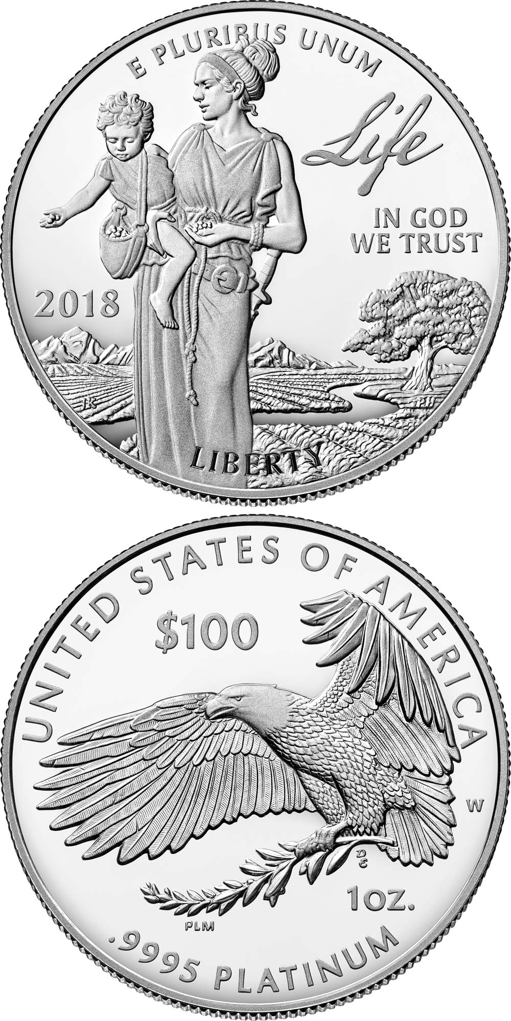 1000x1997 Coins From Usa 2018 100 Dollars