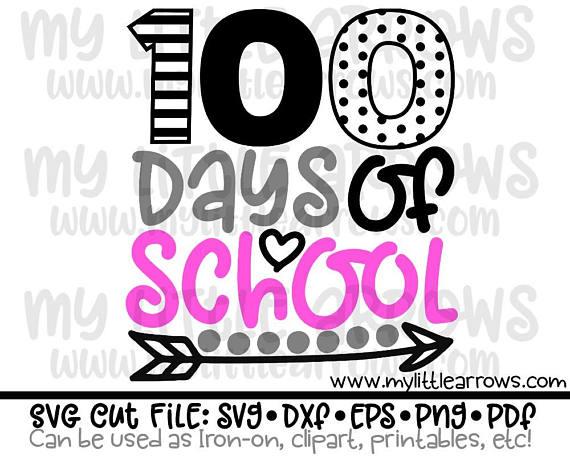 570x456 100 Days Of School Svg 100 Days Of School Dxf School Svg