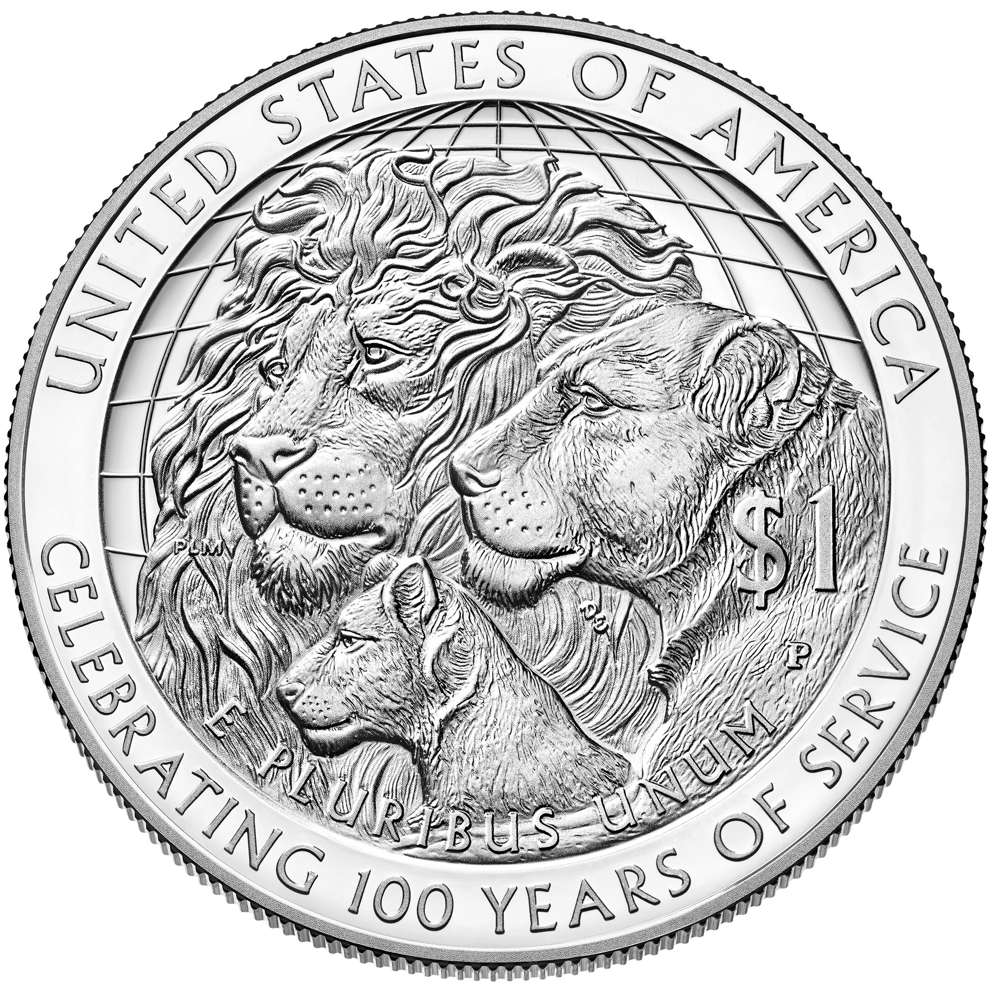 2000x2000 2017 Lions Clubs Silver Dollar Coin Now Available World