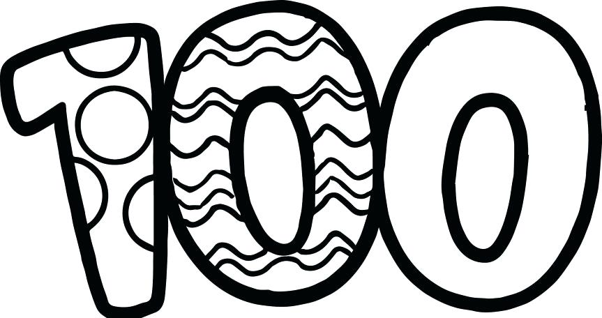 It is a graphic of Satisfactory Coloring Sheets For 100th Day Of School