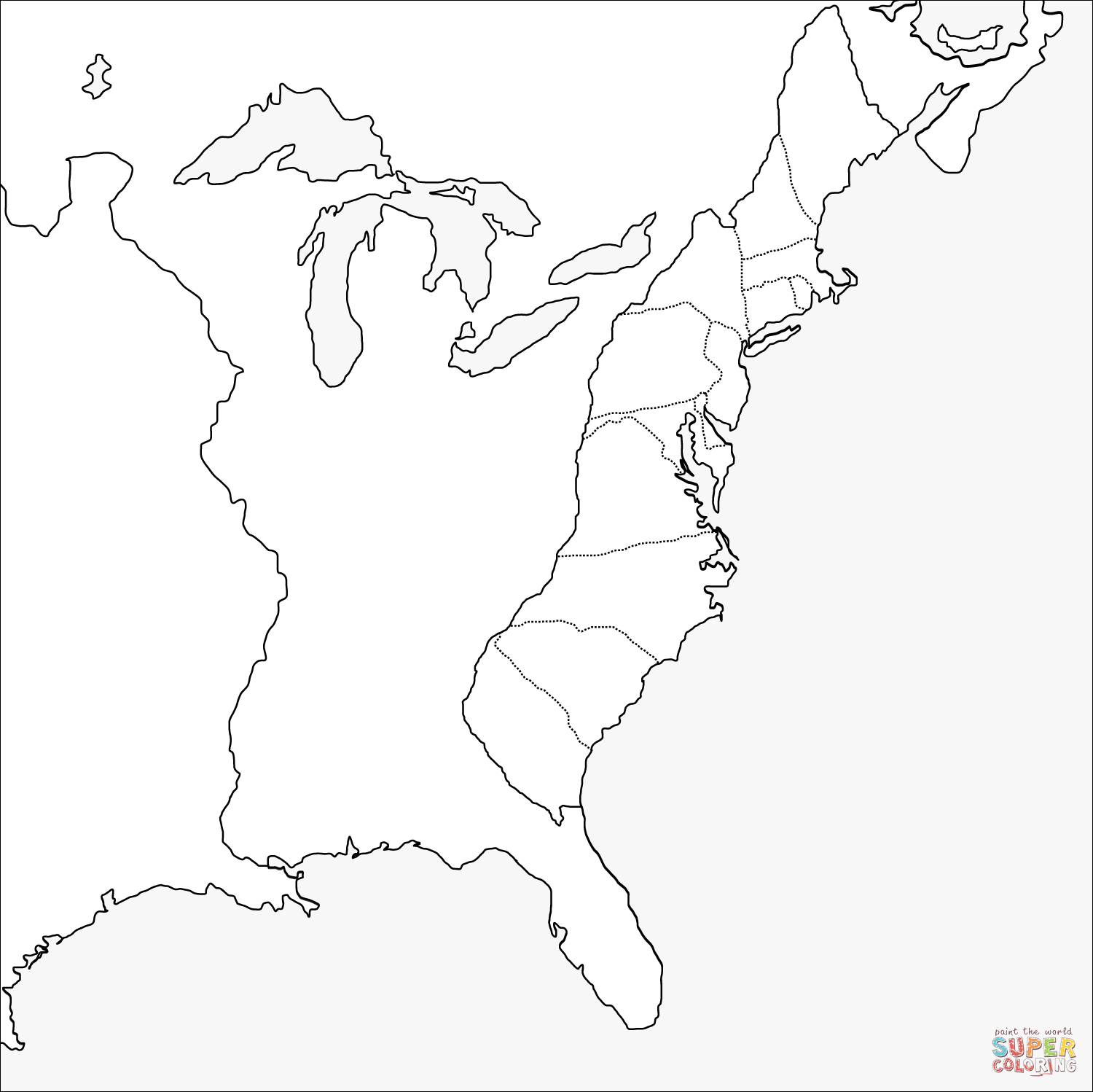 13 Colonies Drawing At Getdrawingscom Free For Personal Use 13 - Us-map-13-colonies