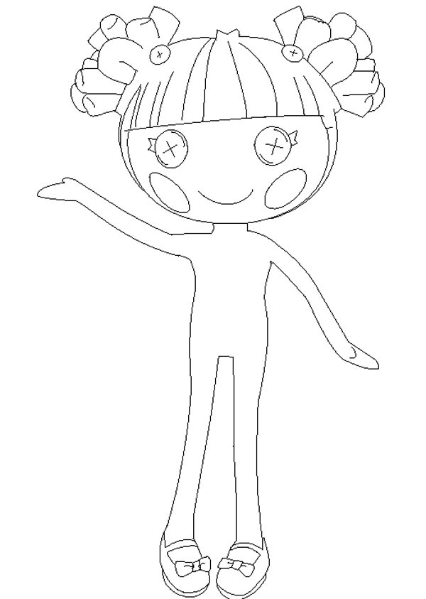 600x843 Hoe To Draw Lalaloopsy Coloring Page Color Luna