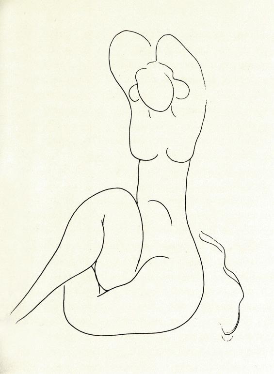 565x772 Amedeo Modigliani Anna Akhmatova Pencil Drawing Apartment Museum