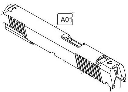 422x304 Elite Forcekwc 1911 A1 Co2 Blowback Airsoft Pistol Slide