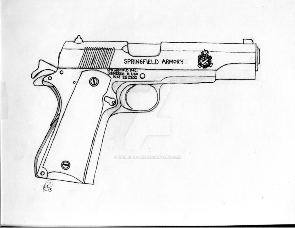 1017x786 Springfield Armory 1911 45 Caliber By Eagle Heart