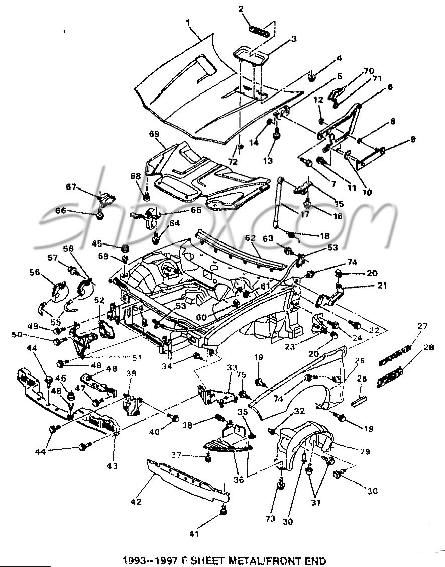 1969 Camaro Drawing At Free For Personal Use Color Wiring Diagram 886x1128 4th Gen Lt1 F Body Tech Aids Drawings Amp Exploded Views