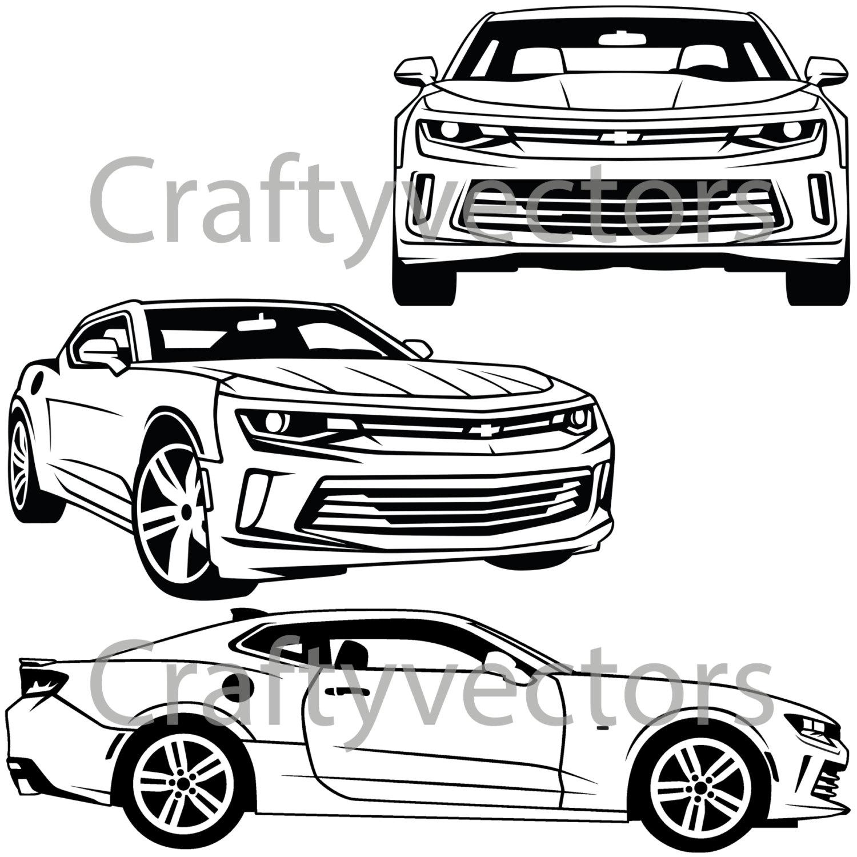 1500x1500 Chevrolet Camaro 2016 Vector Svg Cut File