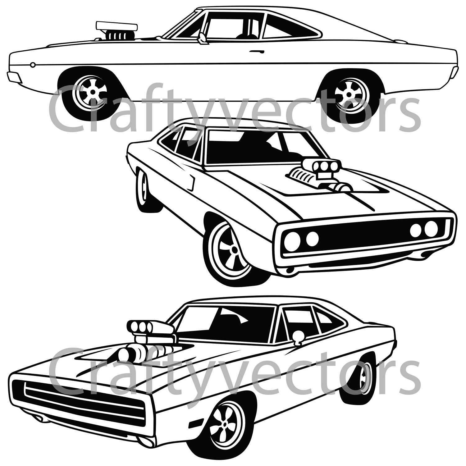 1500x1500 Dodge Charger 1970 Vector File