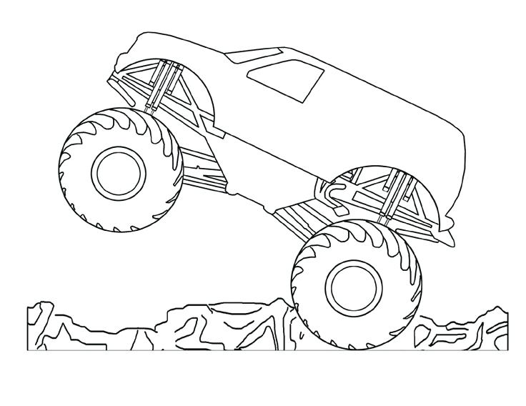 736x568 Dodge Ram Coloring Pages Free Printable Monster Truck Coloring