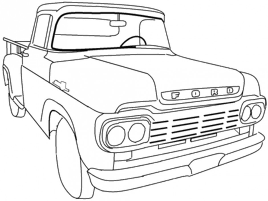 940x705 Dodge Truck Coloring Pages Many Interesting Cliparts
