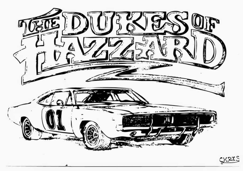 1024x723 General Lee Coloring Pages