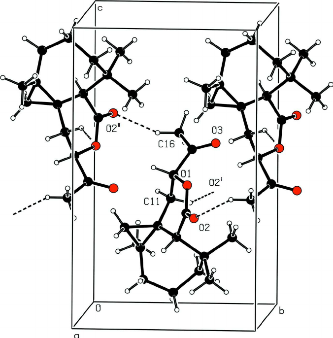 676x686 Packing View Showing The Hydrogen Bonds Building