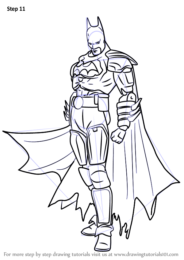 600x846 Learn How To Draw Batman From Injustice