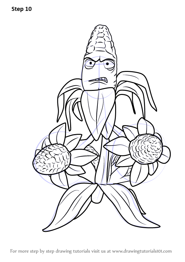 596x842 Learn How To Draw Kernel Corn From Plants Vs. Zombies