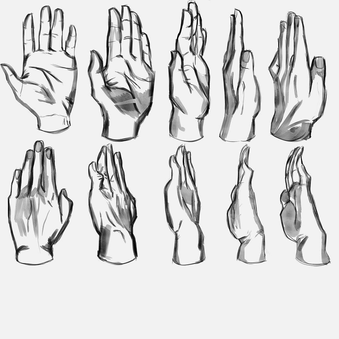 1080x1080 Day 2 Of The My Hand Studies.