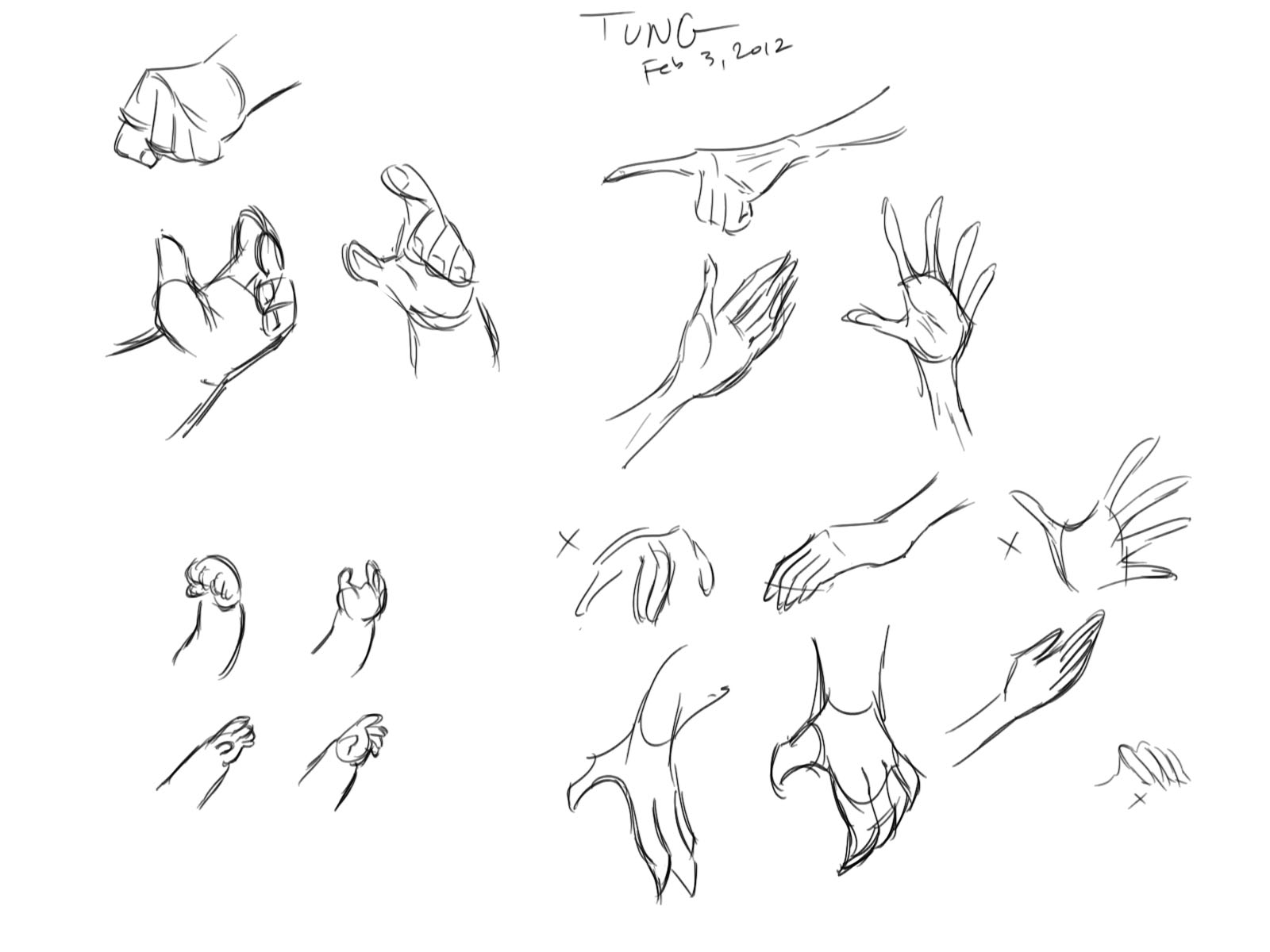 1600x1200 Tung's Web Log. First Drawing Day Of Heads And Hands