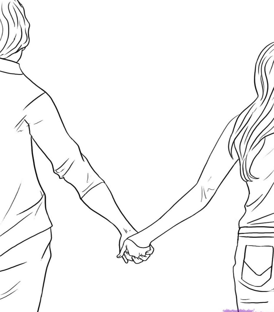 1070x1217 Best Photos Of Holding Hands Drawing