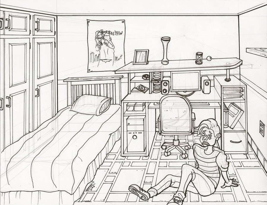 . 2 Point Perspective House Drawing at GetDrawings com   Free for