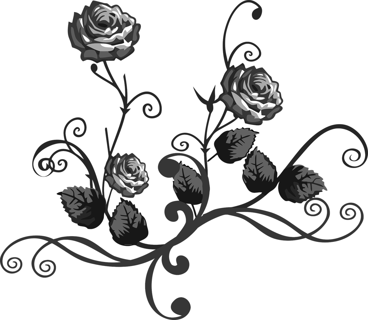 1280x1114 How To Make Drawing Of Rose 14 Free Printable Rose Stencils