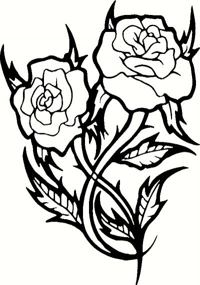400x571 2 Roses Wall Sticker, Vinyl Decal The Wall Works