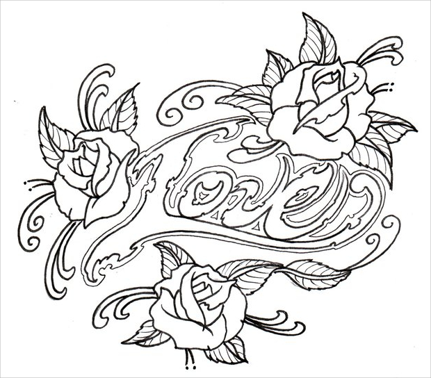 620x544 Rose Drawings , Sketches Design Trends