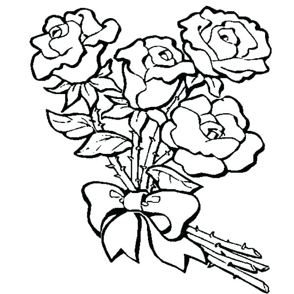 600x600 Roses Coloring Pages Rose Coloring Pages For Kids Beautiful Roses