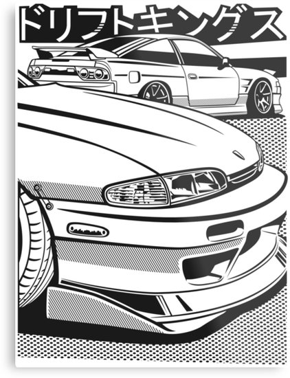 422x550 Nissan Silvia S14 S13 Metal Prints By Racing Factory Redbubble