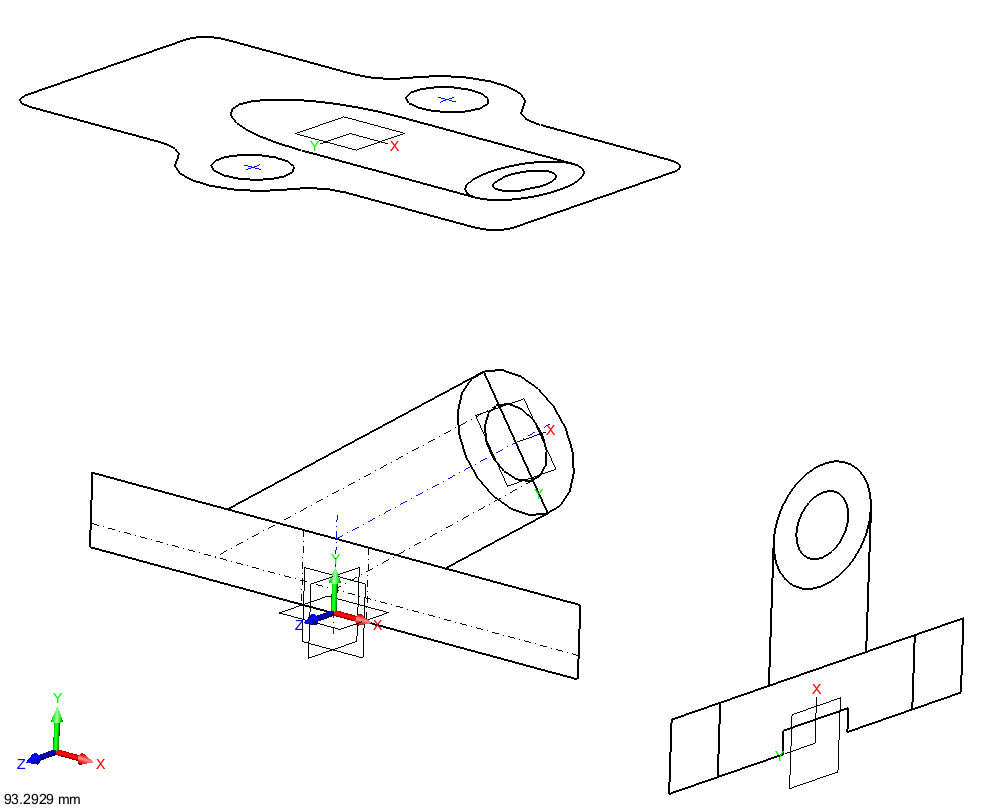 991x809 Converting 2d Drawings To 3d Models Easily With Zw3d