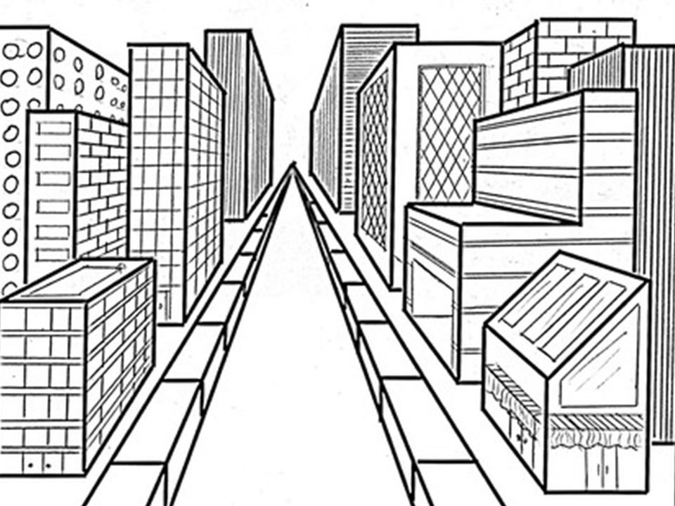960x720 Perspective Drawing One Point Perspective. Perspective