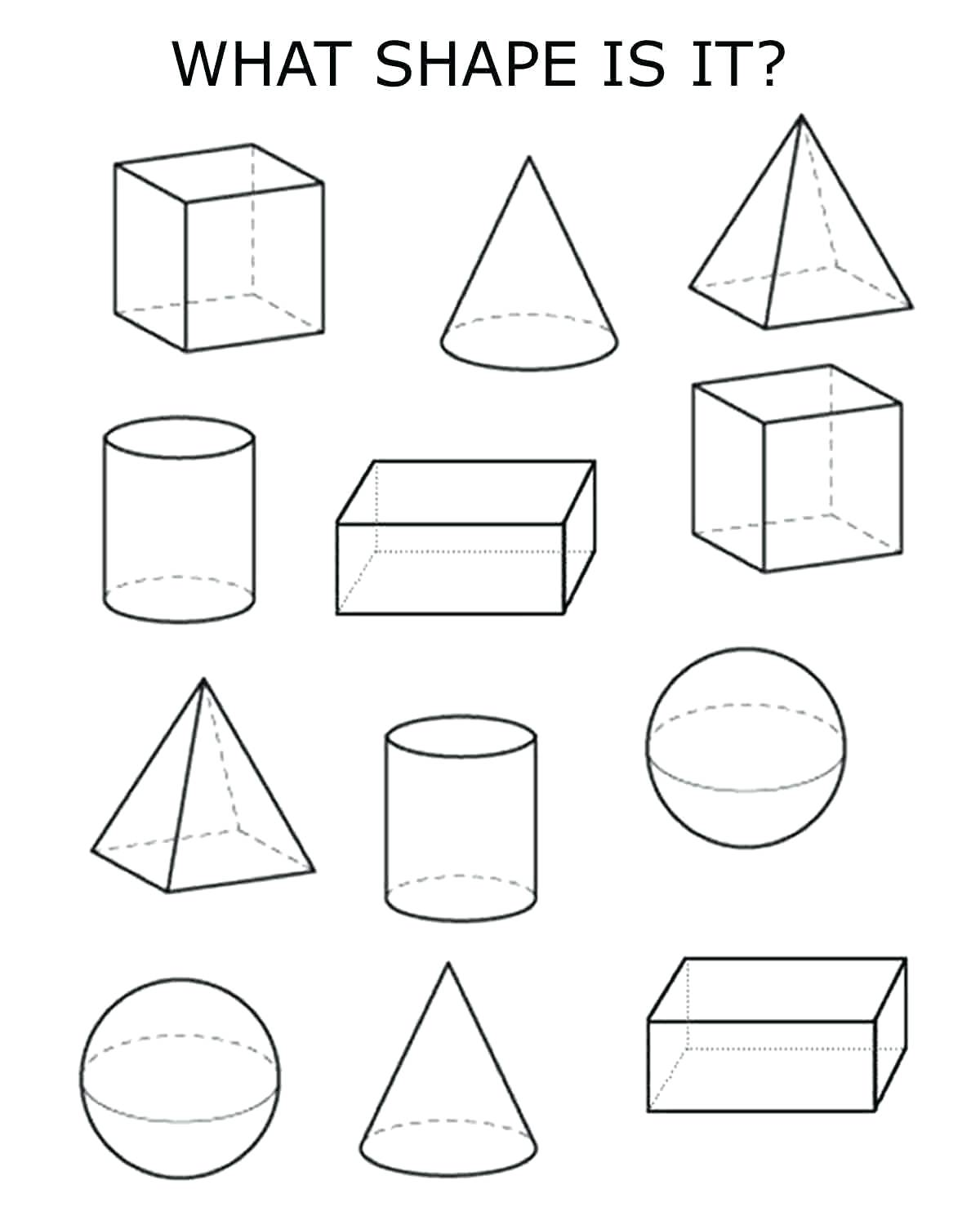 3 Dimensional Shapes Drawing At Getdrawings Free For Personal