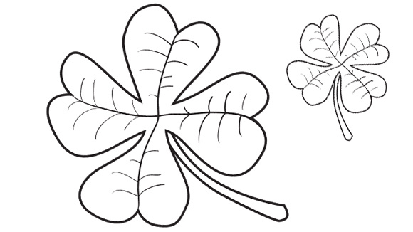 3 Leaf Clover Drawing at GetDrawings.com | Free for personal use 3 ...