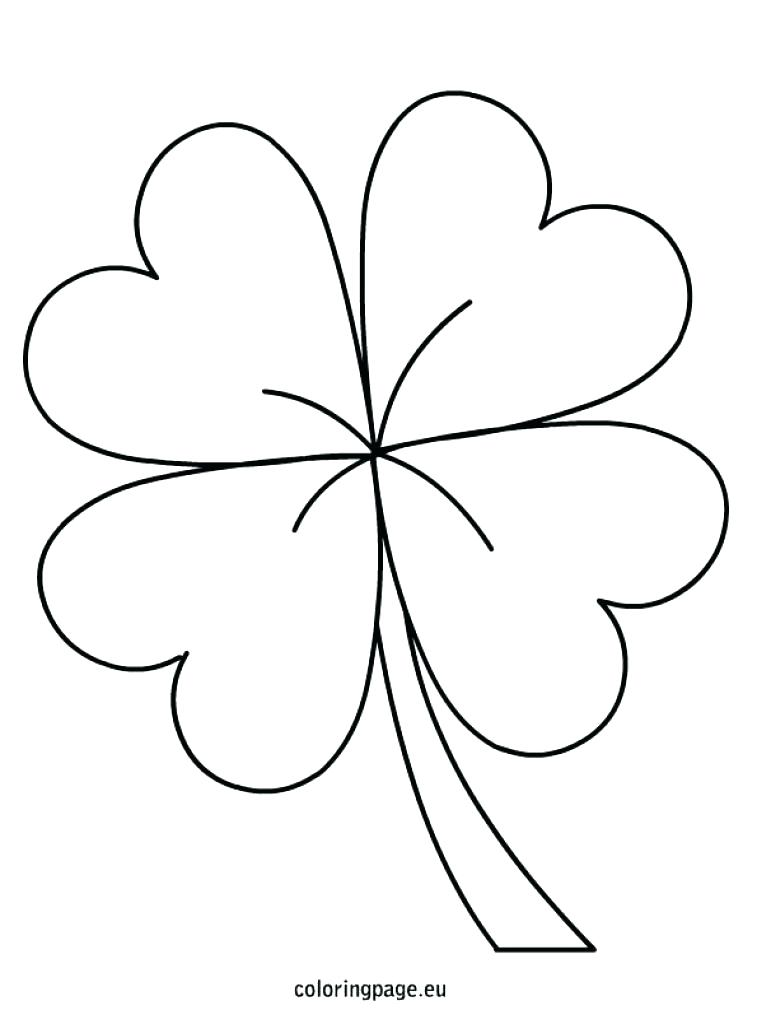 757x1024 three leaf clover coloring page shamrock color page three leaf - Four Leaf Clover Printable