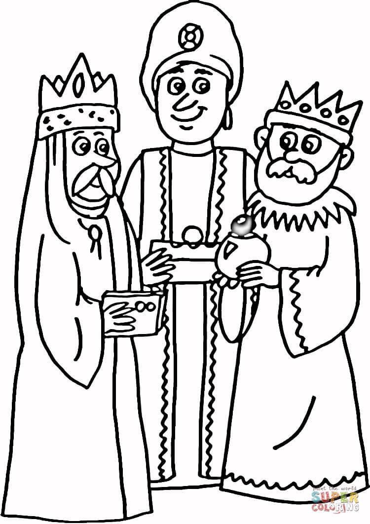 750x1062 3 Kings Coloring Page Free Printable Coloring Pages