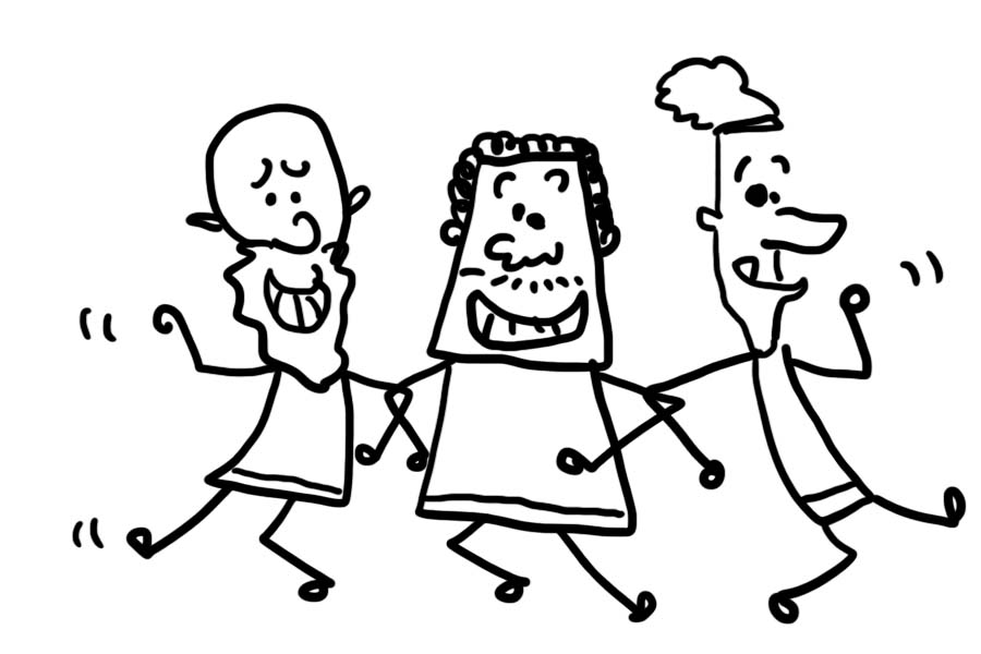 900x600 Bible Cartoon The Three Wise Men