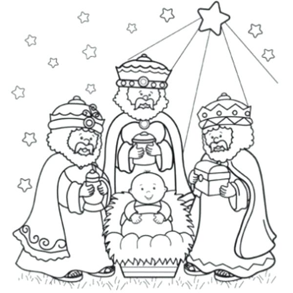 600x600 Christmas Coloring Pages 3 Three Wise Men Clip Art Coloring Page